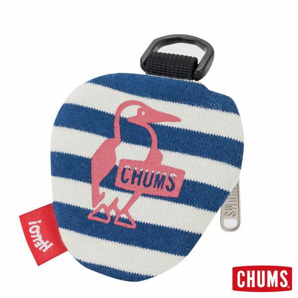 CHUMS 日本 SxC三角零錢包 附扣環 深藍條紋/摩卡 CH602028N013