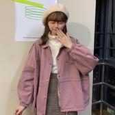 風衣 韓系秋冬工裝寬鬆復古夾克外套 花漾小姐【預購】