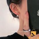 耳飾耳環簡約金屬圓球氣質925銀針歐美網美耳墜【慢客生活】