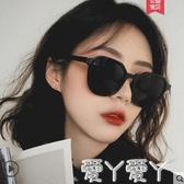 墨鏡墨鏡女韓版潮圓臉太陽鏡抖音蹦迪大臉顯瘦眼鏡網紅新款潮聖誕交換禮物