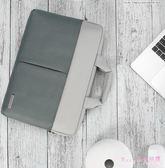 筆電包 15.6英寸電腦包筆記本女手提簡約內膽包保護套皮套男女時尚商務 DR17492【Rose中大尺碼】