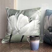 加厚棉綢文藝范中國風靠墊抱枕「巴黎街頭」