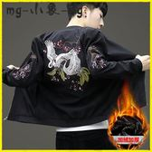 MG 唐裝-唐裝外套刺繡韓版修身加絨夾克男裝