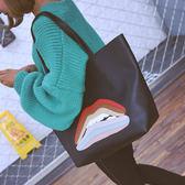 簡約時尚撞色單肩包2新款日韓版新款女包托特包百搭手提包大包 祕密盒子