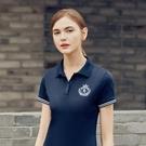 翻領短袖T恤女2020新款夏季白色有領韓版修身顯瘦大碼女士polo衫 韓語空間