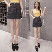 牛仔半身裙新款韓版高腰顯瘦包臀時尚短裙子 JD5068【KIKIKOKO】