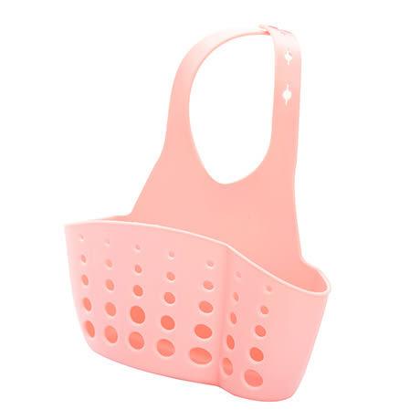 可調節按扣式水龍頭收納掛籃水槽掛袋廚房置物架海綿肥皂瀝水架  現貨
