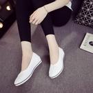 【免運】夏季護士鞋白色護土鞋黑色布鞋女工...