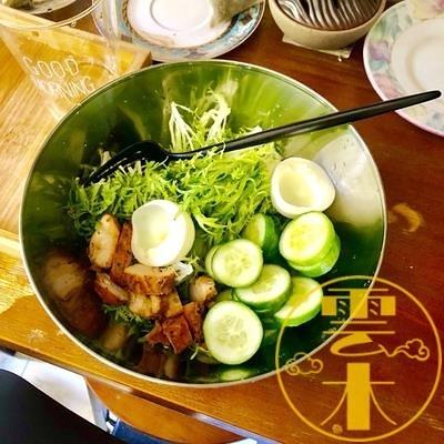 日式沙拉碗餐具不銹鋼碗耐熱冷面碗拌面碗【雲木雜貨】