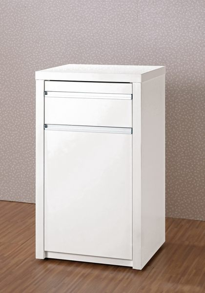 【森可家居】卡洛琳1.5尺收納櫃 7CM420-3 餐櫃 廚房櫃 碗盤碟櫃 白色 窄型