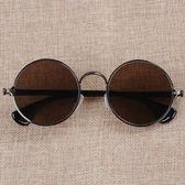 純天然水晶石眼鏡 圓框男士 石頭太陽鏡復古平光養目鏡養眼 花間公主