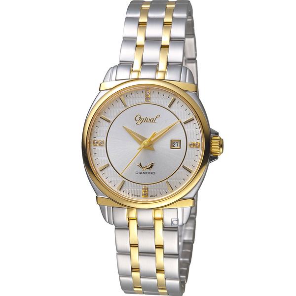 Ogival愛其華典藏真鑽時尚腕錶  350-04LSK