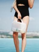 化妝包旅行洗漱包女大容量防水游泳洗澡袋浴兜ins風超火 青山市集