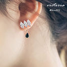 S925銀 閃人耀眼水鑽耳環-維多利亞160664