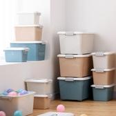 收納箱收納箱塑膠特大號清倉衣服收納盒整理箱家用衣物儲物箱車載後備箱JD 新品