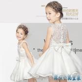 圖片色 女童禮服裙小女孩花童婚紗演出服兒童公主裙蓬蓬新款連身裙洋裝 DR35054【甜心小妮童裝】