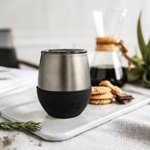 HYDY 時尚蛋型杯 油墨黑-鈦灰 240ml