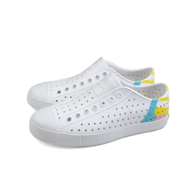 native JEFFERSON BLOCK 休閒鞋 洞洞鞋 白/黃 男女鞋 11100102-8931 no986