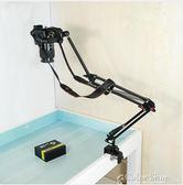 杰上俯拍支架單反相機架攝像頭監控架子攝影獨腳架桌面床頭投影架