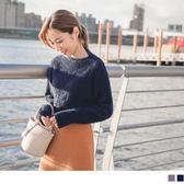 《FA1823》馬海毛手感純色長版粗針織毛衣 OrangeBear