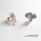 yunique Backyard 大象先生小花耳環