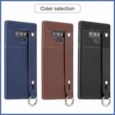 三星 Note9 S9 Plus S9 手帶三角紋 手機殼 全包邊 軟殼 手袋 可掛繩 保護殼