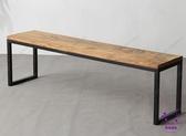 床尾凳  美式LOFT長條凳實木復古鐵藝長凳子家具餐椅玄關坐凳換鞋凳休息凳 點點服飾