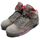 Nike Air Jordan 5 Retro V Camo 灰 紅 迷彩 麂皮 AJ5 火焰 男鞋【PUMP306】 136027-051