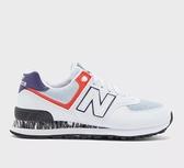 New Balance 女款白色運動休閒鞋-NO.WL574CS2
