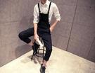 【找到自己】 吊帶褲 背帶 長褲 吊帶褲-純色素面時尚休閒男褲子 下殺 優惠中