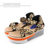 HUMAN PEACE 涼鞋 豹紋 女鞋 no365