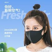 口罩-夏季防塵防曬女透氣薄款紫外線可清洗 提拉米蘇