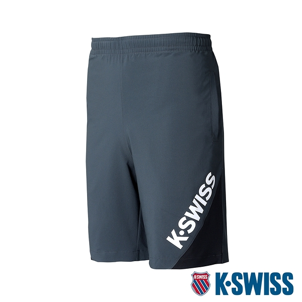 【超取】K-SWISS Slope KS Logo Shorts運動短褲-男-灰