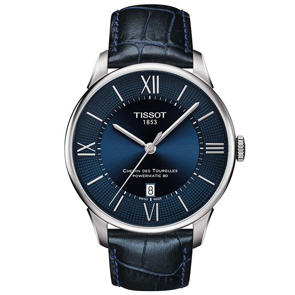 TISSOT 杜魯爾系列 動力儲存80機械腕錶 T099.407.16.048.00 紳士藍