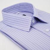 【金‧安德森】紫色格紋吸排長袖襯衫