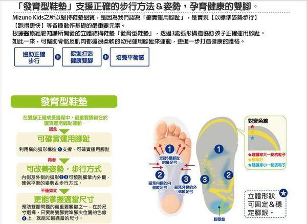 [陽光樂活] MIZUNO 美津濃 幼兒鞋 (粉深藍迷彩) K1GD153266