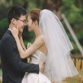 韓式新娘蓬蓬頭紗超仙多層婚紗新款結婚頭紗 全館免運