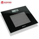 KINYO 黑晶鋼化玻璃電子體重計
