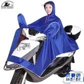 騎行雨衣成人加厚加大透明大帽檐男女單人機車雨衣雨披【英賽德3C數碼館】