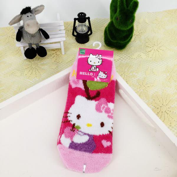 女衣可愛三麗鷗kitty襪子冬天保暖羽絨直版襪女衣