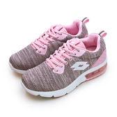 LIKA夢 LOTTO 緩震氣墊慢跑鞋 ARIA KNIT 系列 粉紅灰 6963 女