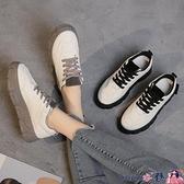 熱賣帆布鞋 小白鞋女2021年新款網紅增高帆布鞋子百搭秋冬運動老爹棉鞋潮【618 狂歡】
