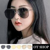 OT SHOP太陽眼鏡‧歐美復古網紅穿搭飛行員式中性金屬大框抗UV400墨鏡‧現貨三色‧U82