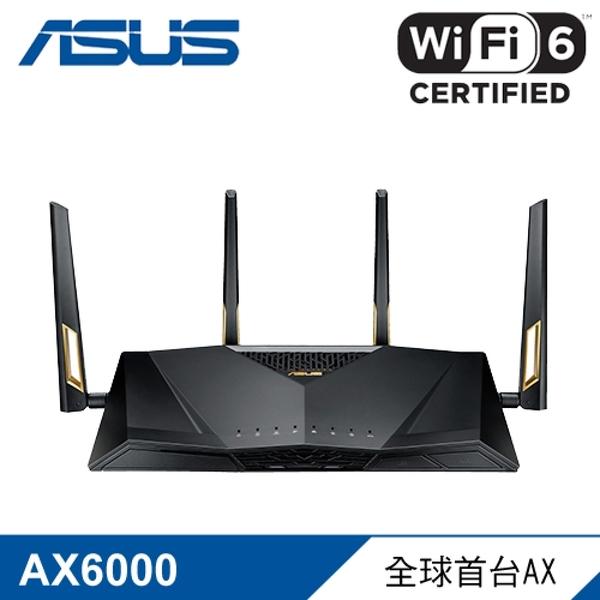 【ASUS 華碩】RT-AX88U AX6000 雙頻無線路由器 【贈USB充電頭】