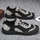 勞保鞋 2020新款飛行員勞保防水休閑布鞋百搭帆布潮鞋懶人一腳蹬【聖誕禮物】