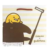 〔小禮堂〕蛋黃哥 x 馬來貘 方型紙袋《白黃條紋.咖啡提繩.側邊滿版.自拍桿》 4714581-55086