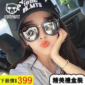太陽鏡女潮 韓版大框墨鏡複古偏光鏡圓臉個性主播眼鏡