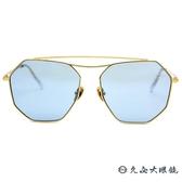 HELEN KELLER 林志玲代言 H8705 (金) 雙槓 多邊形框 太陽眼鏡 久必大眼鏡