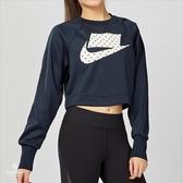 Nike W Sportswear Crew Crop PK 女子 深藍 短版 長袖上衣 931827-475