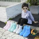 防雨鞋套防水雨靴防滑耐磨兒童防水雨鞋套透明水鞋【創世紀生活館】